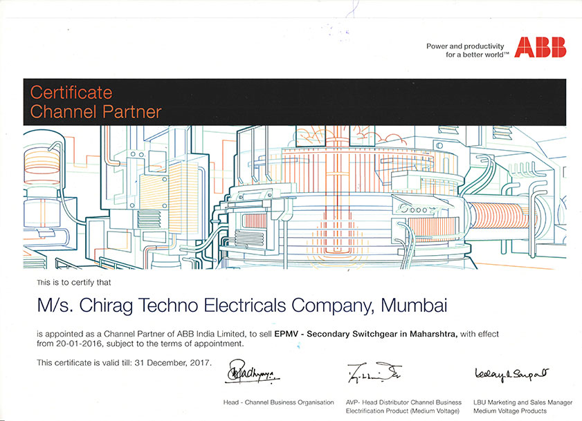 Contact- Chirag Techno Electricals Co